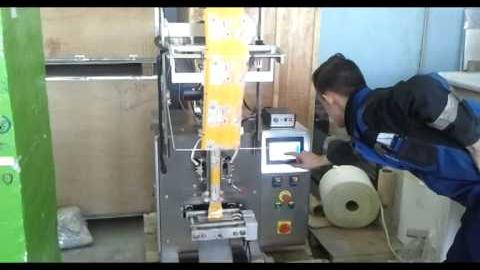 Упаковка пылящих продуктов на HDL-160F. Шнековый дозатор.