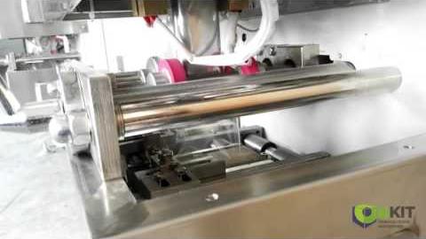 Фасовочно-упаковочная машина с объемным дозатором. Фасовка перца горошек, сахарного песка  или любо легко сыпучего продукта