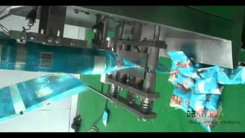 Для фасовки сыпучих продуктов применяется вертикальный фасовочный-упаковочный станок с объемным дозатором